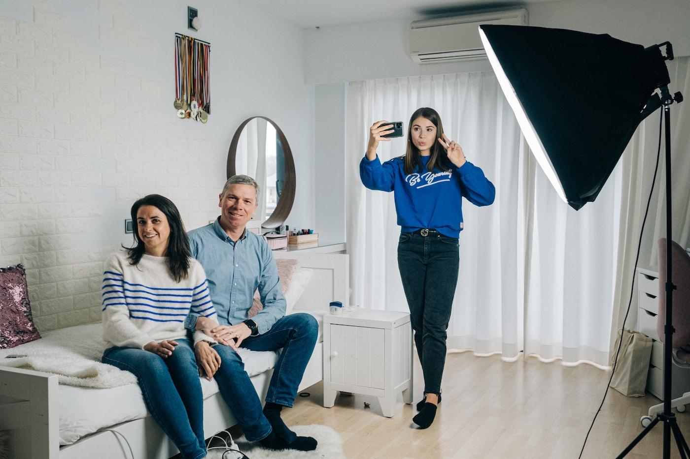 Stien Edlund met haar ouders